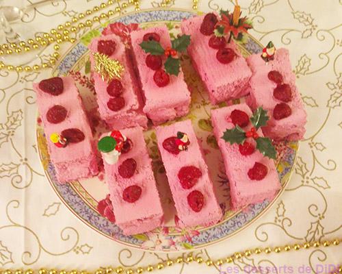Moelleux roses aux framboises